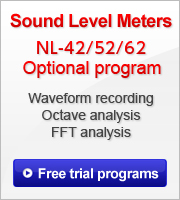 Free trial optional programs for sound level meters